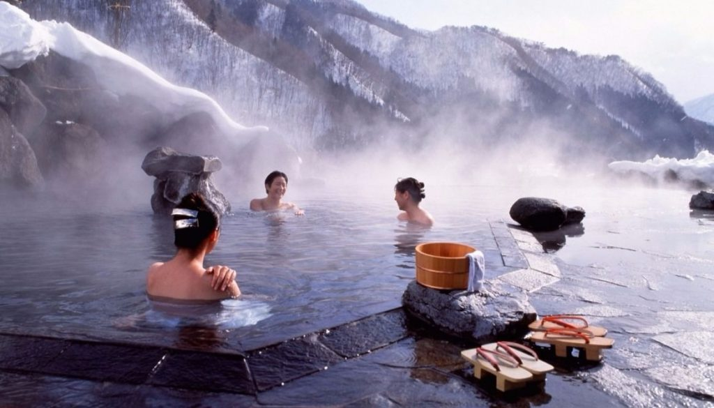 Onsen-in-Winter