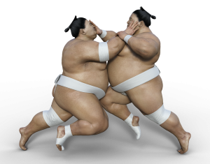 Rambut Sumo yang unik